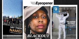 Examples of three different student papers with covers dedicated to Black lives